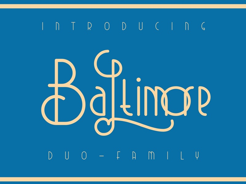 Baltimore Font Duo minimal simple logo lettering branding modern fonts elegant fonts serif font serif fonts font design fonts collection classic vintage font vintage retro sans serif font classic font modern font font duo