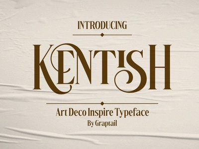 Kentish Typeface typography logo typography design typography art font family font design retro fonts design modern calligraphy calligraphy modern logo lettering typeface typography fonts font vintage font retro font art decor art deco font