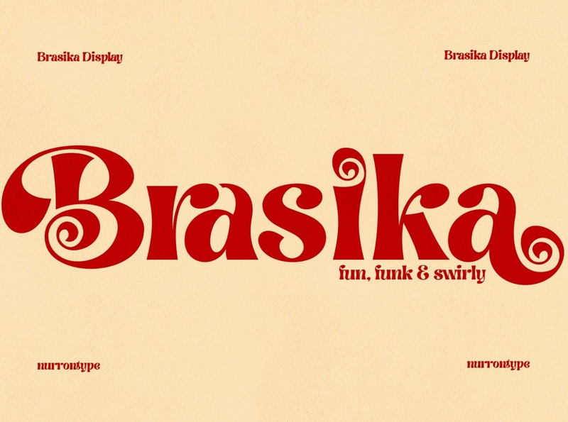 Brasika - Funky Font sans serif font sans serif serif font serif fonts font design fonts collection display fonts project loog lettering typography typeface design swirly font swirly fun fon fonts font funky font display font