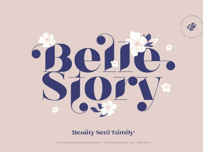 Belle Story - Beauty serif family fonts collection font family lettering types typeface calligraphy design branches floral flowers floral font summer font font sans serif font sans serif serif family serif font serif beauty font beauty