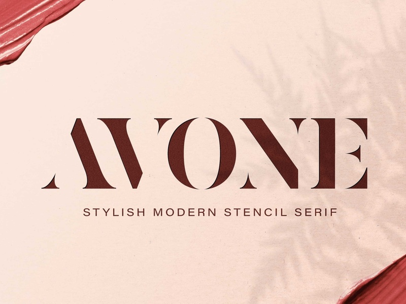 AVONE - Stylish Modern Stencil serif fonts font design fonts collection stylish font professional design videos brochures logos advertising branding magazine luxury fonts stylish fonts stencil fonts modern stencil stencil font stencil modern stylish