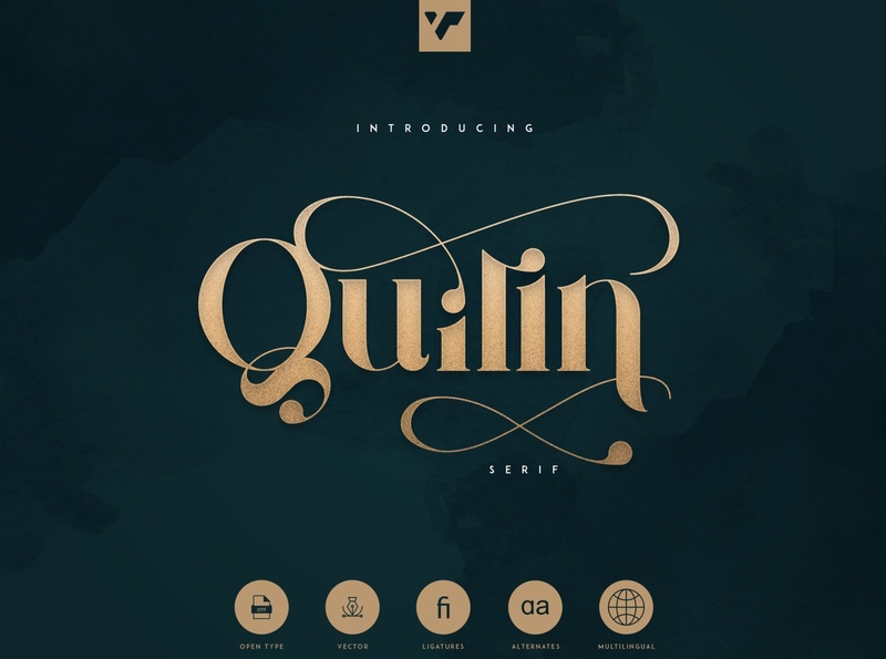 Quilin Serif - Latin and Cyrillic simple professional elegant modern luxury font vintage typeface retro vintage calligraphy font calligraphy design logo lettering branding fonts font sans serif font serif font serif latin