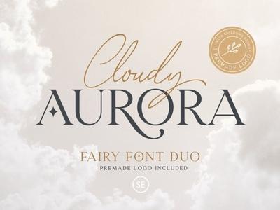 Cloudy Aurora - Fairy Font Duo serif fonts font design fonts collection professional design logo lettering script fonts modern serif branding script font script sans serif font sans serif serif font serif font font duo fairy font duo fairy font