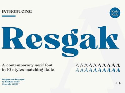 Resgak - Serif Family calligraphy design branding modern fonts elegant fonts sans serif fonts collection font awesome font family font design serif fonts logo lettering typeface typography fonts font serif font serif family serif