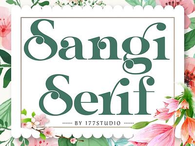 Sangi Serif Font lettering art font awesome font family design typeface branding modern fonts elegant fonts serif fonts font design fonts collection fonts sans serif fonts logo lettering font sans serif font sans serif serif font serif