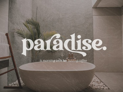 Paradise - Playful Serif Font minimal simply typography typeface lettering logo branding modern fonts elegant fonts fonts collection font family font design fonts design serif fonts sans serif font sans serif serif font serif font