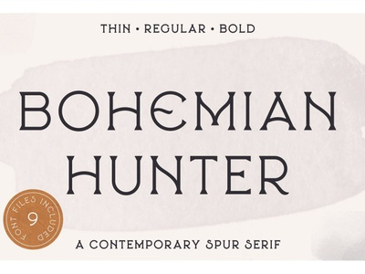 Bohemian Hunter typefaces fonts simple calligraphy typeface logo sans serif font branding modern fonts elegant fonts serif fonts font design fonts collection contemporary display font display sans serif serif typeface serif font