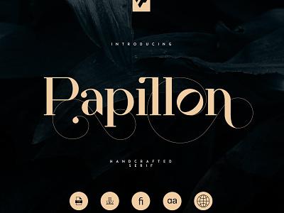 Papillon - Handcrafted Serif Font stylish typeface lettering design modern fonts elegant fonts font design fonts collection sans serif fonts serif fonts professional luxury simple logo branding sans serif font sans serif serif font serif handcrafted