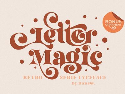Letter Magic - Serif Typeface simple logo design branding modern fonts elegant fonts font design fonts collection vintage fonts retro fonts vintage font vintage retro font retro sans serif font sans serif serif typeface serif fonts serif font serif