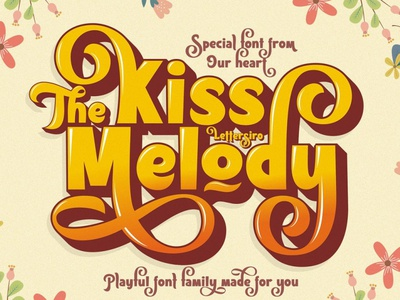 Kiss Melody Font Family logo fonts professional poster fashion stylistic stylish font design fonts collection logo lettering vintage retro sans serif fonts serif font serif sans serif playful fonts font font family