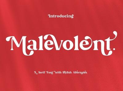 Malevolent - Serif Font calligraphy advertising logo branding modern fonts elegant fonts sans serif serif fonts font design fonts collection stylish fonts design typeface typography fonts font serif font stylish font stylish serif