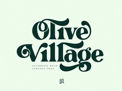 Olive Village - Vintage Font simple branding modern fonts elegant fonts serif font sans serif serif fonts font design fonts collection logo font modern calligraphy calligraphy logo lettering typeface typography fonts font vintage font vintage