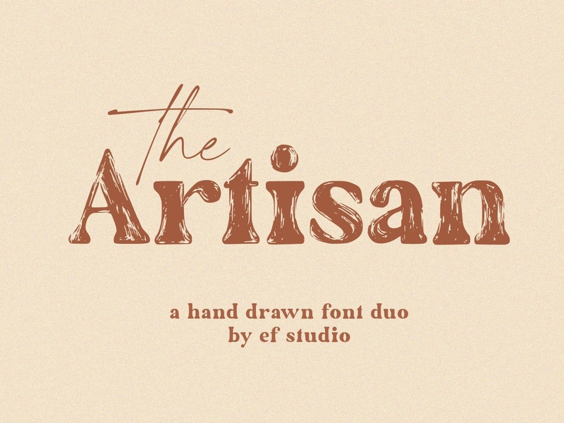 The Artisan |The Artisan | A Hand Drawn Font Duo logo drawing font drawing sketch branding modern fonts elegant fonts fonts collection font design lettering handwriting font handwritten font handwritten handwriting fonts hand drawn fonts hand drawn font hand drawn font duo font