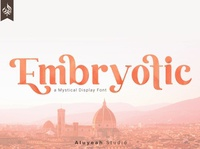 AL Embryotic classy luxury font modern calligraphy calligraphy design logo sans serif font branding modern fonts elegant fonts serif font sans serif serif fonts font design fonts collection display fonts fonts font display font mystical font