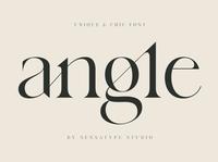 angle - unique & chic font typeface professional design logo lettering sans serif font branding modern fonts elegant fonts serif font sans serif serif fonts font design fonts collection unique design unique logo font chic font chic unique