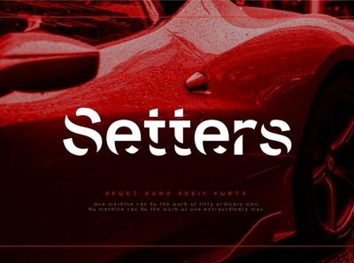Setters - Sport Sans Serif Font blog typeface graphic design logo lettering branding modern fonts elegant fonts serif font font design fonts collection designer design sans serif font sans serif serif fonts serif sport serif font sport serif sport