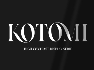 Kotomi Display | High Contrast Serif bold unique font design fonts collection design luxury fonts modern fonts logo font logo serif logo serif typeface serif fonts display fonts popular trendy trending high high contrast serif font display font