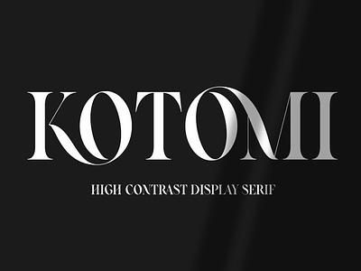 Kotomi Display   High Contrast Serif bold unique font design fonts collection design luxury fonts modern fonts logo font logo serif logo serif typeface serif fonts display fonts popular trendy trending high high contrast serif font display font