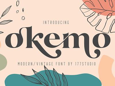Okemo Modern Serif Font bold retro professional design branding elegant fonts font design fonts collection modern logo typeface logo lettering sans serif font sans serif modern fonts serif fonts serif font modern serif font modern serif modern