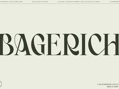 Bagerich Elegant Font luxury unique professional typeface design branding serif font sans serif font sans serif fonts collection font awesome font family font design lettering fonts graphics graphic font elegant font elegant