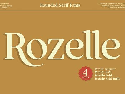 Rozelle Fonts lettering modern calligraphy calligraphy design vintage retro branding modern fonts elegant fonts serif font sans serif serif fonts font design bold font fonts collection italic regular bold fonts bold font