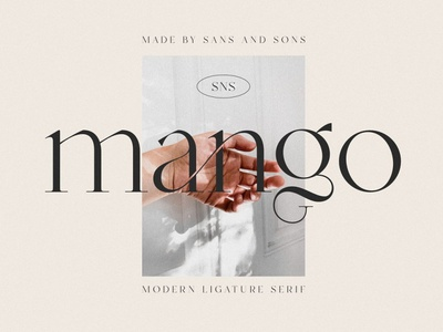 Mango - Modern Serif ligatures ligature typeface sans serif font branding modern fonts elegant fonts font design fonts collection serif fonts design sans serif modern serif fonts calligraphy logo lettering modern serif font serif font serif modern