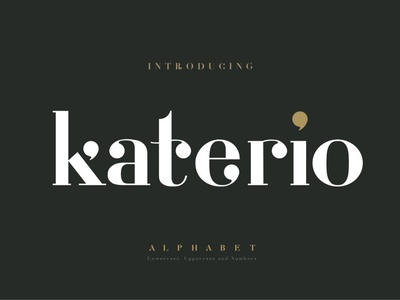 Katerio - Elegant font classic luxury design fashion font fashion minimal serif fonts font design fonts collection modern calligraphy calligraphy logo lettering website fonts font elegant font alphabet font alphabets alphabet
