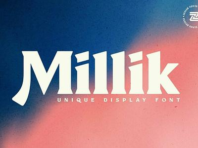 Millik - Display Font logo design calligraphy fonts modern fonts elegant fonts serif font sans serif serif fonts fonts collection font awesome font family font design display fonts design logo font logo lettering fonts font display font display