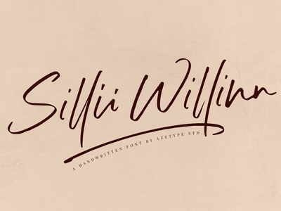 Sillii Willinn - Handwritten Font
