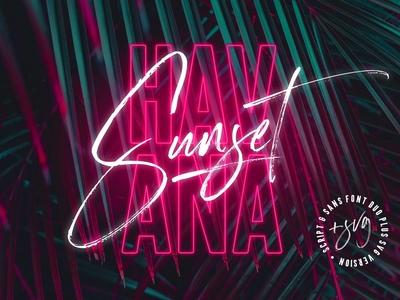Havana Sunset Font Duo + SVG