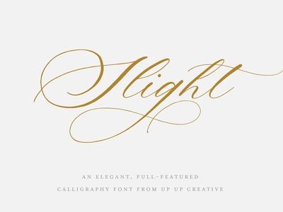 Slight, a Calligraphy Script Font