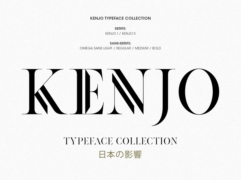 Kenjo Font Duo + Free Sans calligraphy fonts font design fonts collection sans-serif japanese art decor font collection display font collection display typeface collection font duo classic fonts classic font classic bold fonts bold sans serif font sans serif serif sans