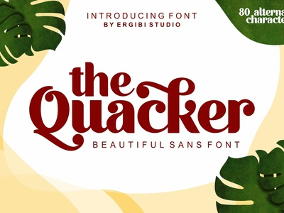 Quacker - Beautiful Sans Font