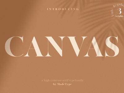 MADE Canvas - Serif Typefamily