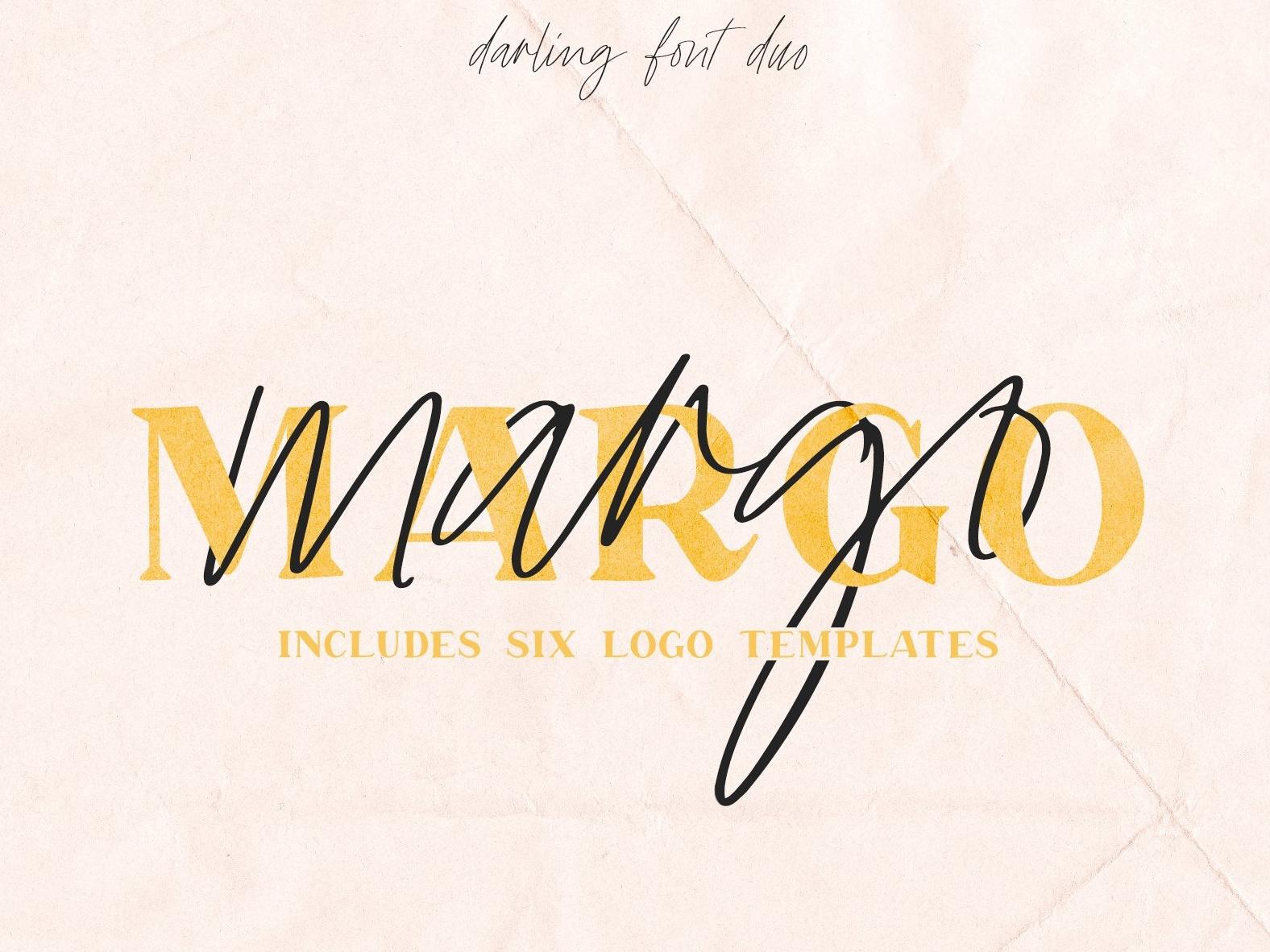 Margo Font Duo w/ 6 Bonus Logos lettering fonts modern fonts calligraphy fonts font design fonts collection font pack logo pack font bundle feminine script serif margo elegant fonts bold fonts font sans serif logo font logos logo font duo
