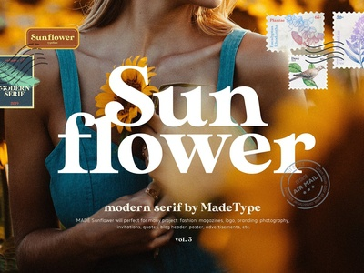 MADE Sunflower - Modern Serif