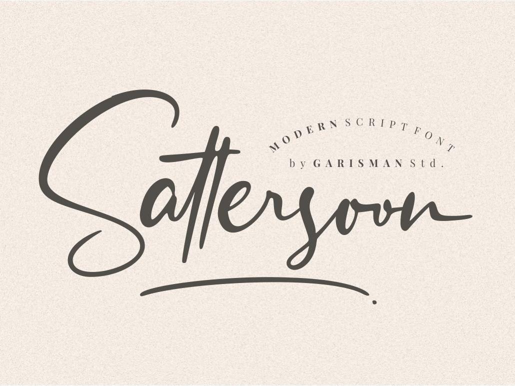 Sattersoon - Modern Script Font luxury font luxury signature font signature font signature fonts luxury signature luxury fonts luxury typography signature typography luxury signature typography fonts collection font design elegant fonts lettering fonts modern fonts calligraphy fonts font family logo fonts script fonts script font modern script font