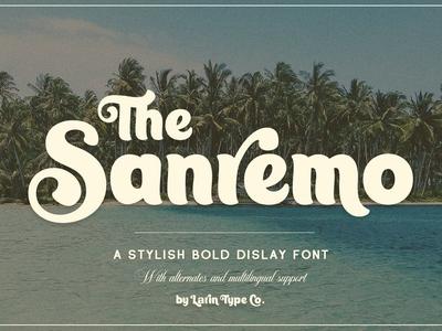 Sanremo - Display Font