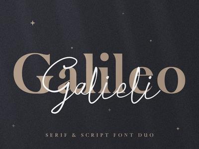 Galileo Galilei - Serif & Script Duo