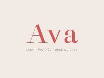 Ava - A Classy Serif Typeface
