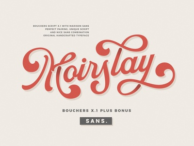 Bouchers X.1 - Display Font