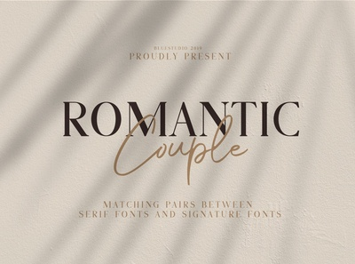 Romantic Couple // Font Duo