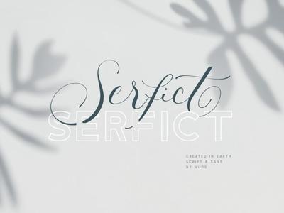 Serfict - Script Font