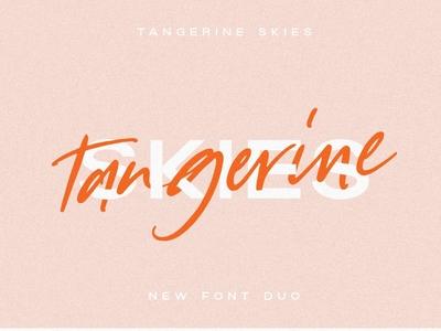 Tangerine Skies Font Duo