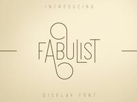 Fabulist - Display font