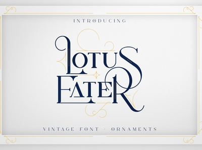 Lotus Eater - Vintage Font Extras