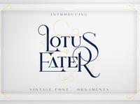 Lotus Eater - Vintage Font Extras