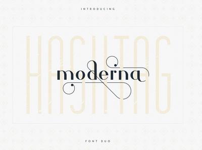 Hashtag Moderna - duo font Extra