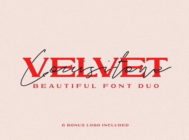 VELVET LOUSITONE bold calligraphy fonts logo fonts lettering fonts modern fonts elegant fonts font design fonts collection beautiful font beautiful font duo typeface serif fonts serif typeface serif font serif sans serif typeface sans serif fonts sans serif font sans serif font duo