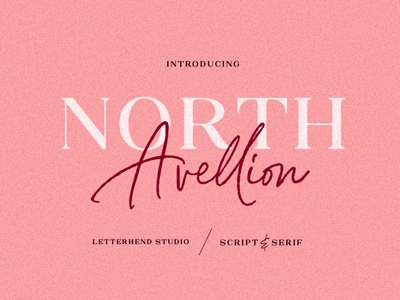 North Avellion - Script & Serif Duo elegant modern logo fonts modern fonts elegant fonts font design fonts collection script typeface script fonts script font sans serif fonts sans serif font sans serif font duo font serif typeface serif fonts serif font serif script
